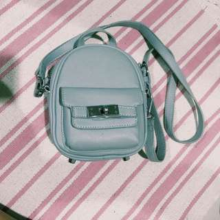 mini blue sling bag!
