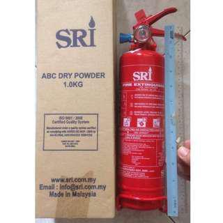 SIRIM Certified SRI 1KG ABC Dry Powder Type Fire Extinguisher