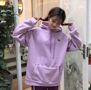 Korean style purple hooded