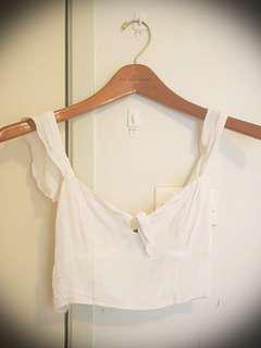 white tie crop top
