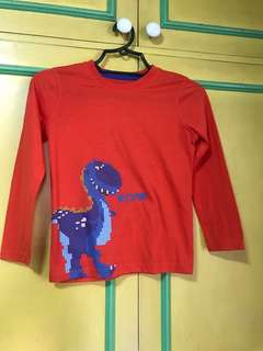 Red orange longsleeves for boys
