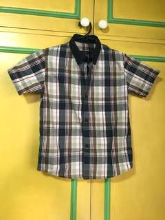 Checkered polo for boys