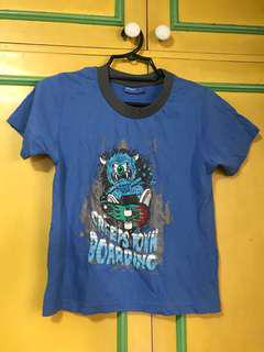 Blue monsters shirt for boys