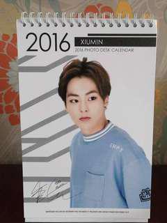 {preloved} EXO Xiumin 2016 Photo Desk Calendar