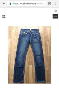 True religion Joey Straight jeans size 28