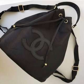 Chanel authentic bucket backpack vip gift