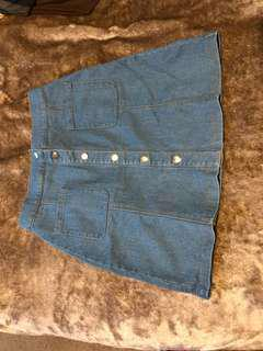 Blue Denim Miniskirt Size S-M