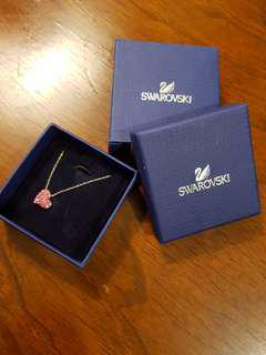 SWAROVSKI Rose Heart Pendant Necklace