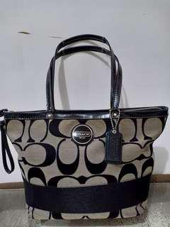 Coach Signature Stripe Bag
