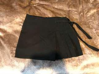 Black Skort with side tie