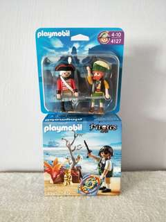 Playmobil 4945 Pirate On Treasure Hunt Gift Egg & 4127 Pirate And Redcoat Soldier Duo Pack