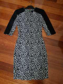 NICHOLAS THE LABEL black and white print 3/4 sleeve dress size 6