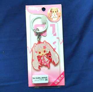 [Keychain]Vocaloids - Hatsune Miku Sakura Ver. Stainless steel Keychain