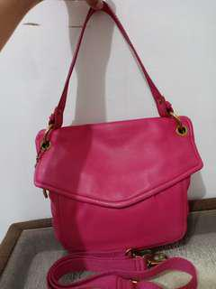 Fossil Convertible Flap Fuschia