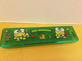 懷舊Keroppi 筆盒 (2手) 18.5 x 4.5cm