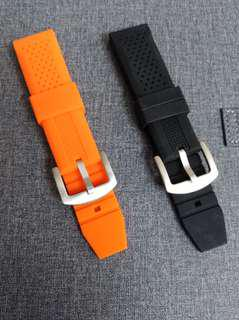 High quality rubber strap 22mm