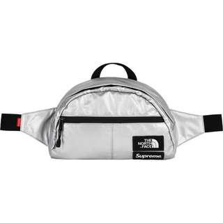 [INSTOCK] Supreme The North Face Metallic Roo II Lumbar Pack Silver