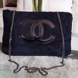 Chanel gift authentic fur sling bag