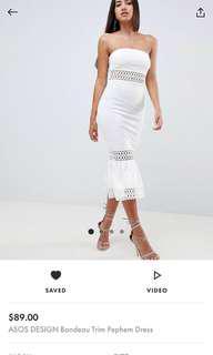 BNWT White midi dress