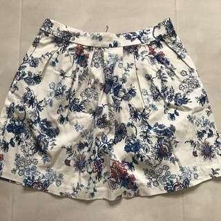 Stradivarius Floral Skirt