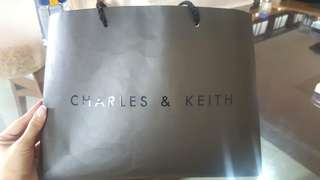 LAST ONE! Charles & keith paper bag