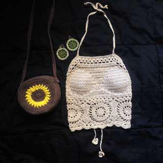 D'Wheel halter (crochet top)