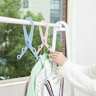 多用途 折疊衣架 室內掛衫 夾邊都得 廁所 窗邊 房間 多孔 防滑防風衣架 旅行衣架 晾曬架 #marchsale