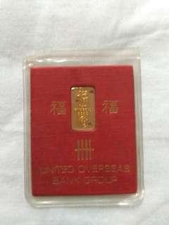 UOB 999 24K pure gold bar