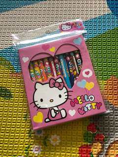 Brand New Hello Kitty 12 Color Pencils