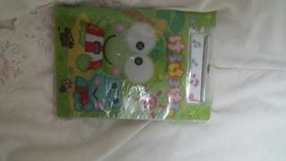 Kero keropi cute notebook with pen and notepad