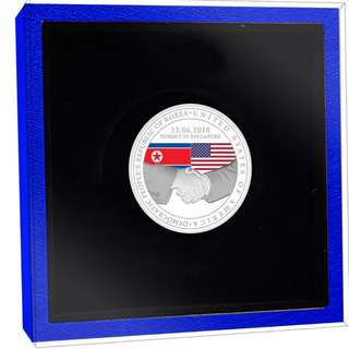 Trump Kim Summit 999.9 Fine Silver Proof Coin