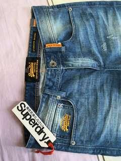 全新 Superdry jeans牛仔褲