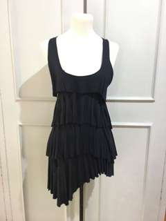 Black Sheep Dark Blue Layered Dress M on tag