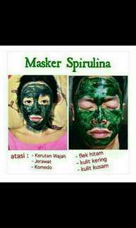 Masker spirulina bisa mengatasi: kerutan wajah, jerawat, komedo, flek hitam, kulit kering, kulit kusam, yu pesan harga satuan 2000 per butir.