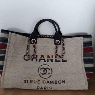 Chanel Canvas Large Shopping Bag