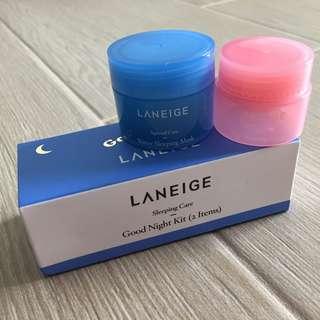 Laneige sleeping care good night kit (2 items)