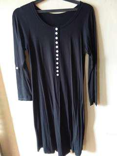 Black dress bahan stretch