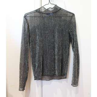 Sparkly mesh top