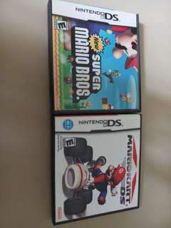 NDS Mario bros & Mario kart (只限九龍灣地鐵站交收或順豐到付)