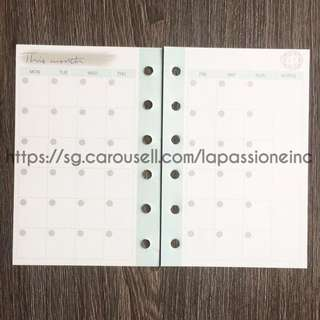 ✅ INSTOCK ✅ A7 Love Donki, Journal Refill, Planner Inserts for MONTHLY & YEARLY CALENDAR  📓📓