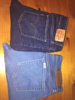 Lee and Levi jeans