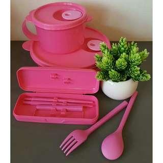 Lunch pink set (Tupperware Brands)