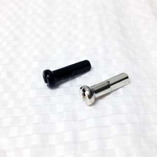 Pillar brass nipple 14G 14mm external nipple black or silver