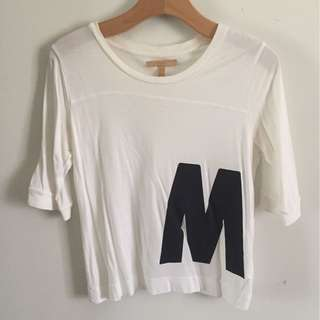 Zara white top with graphics