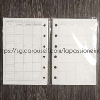 ✅ INSTOCK ✅ A7 Journal Refill, Planner Inserts for MONTHLY CALENDAR 📓📓