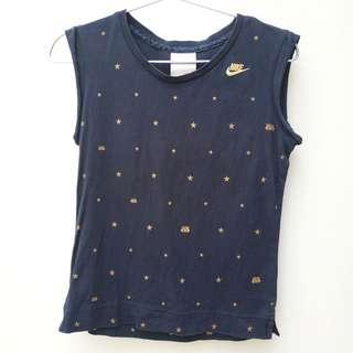 Nike金色刺繡及星星圖案背心 Nike Nike gold embroideried and star print/ pattern vest/ sleeveless tee, t-shirt