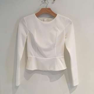 Guess backless white top