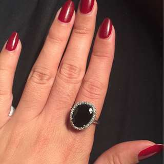 Black pandora ring