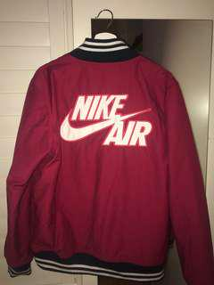 Red Nike Air Bomber Jacket