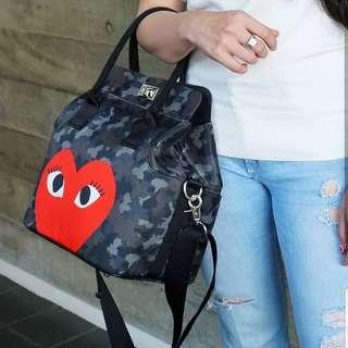 Hand bag army love black